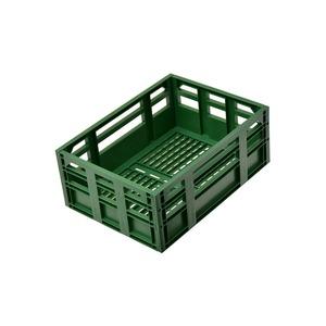 コンテナバスケット(自転車カゴ) 前/後ろ用 【OGK】SPB-001 レトログリーン(緑) 〔自転車パーツ/アクセサリー〕