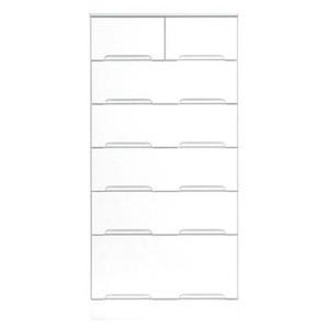 ハイチェスト 6段 【幅60cm】 スライドレール付き引き出し 日本製 ホワイト(白) 【完成品 開梱設置】