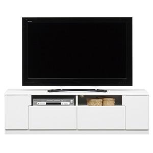 ローボード(テレビ台/テレビボード) ホワイト 【幅150cm】 オープン収納棚付 日本製 【完成品】