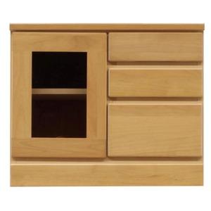 3段ローボード/テレビ台 【Bタイプ/幅60cm】 木製 扉収納付き 日本製 ナチュラル 【完成品】