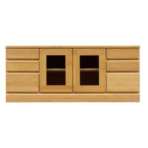 3段ローボード/テレビ台 【幅120cm:37型〜52型対応】 木製 扉収納付き 日本製 ナチュラル 【完成品】