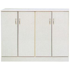ローシューズボックス(下駄箱) 幅120cm×奥行38cm×高さ92cm 日本製 ホワイト(白)  【PLAZA2】プラザ2 【完成品 開梱設置】