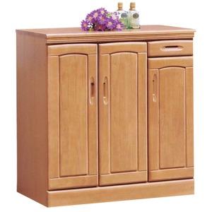 ローシューズボックス(下駄箱) 幅90cm×奥行40cm×高さ90cm 木製 棚板付き 日本製 ナチュラル 【Horizon3】ホライゾン3 【完成品】 - 拡大画像