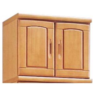 上置き(シューズボックス用棚) 幅60cm 木製 扉/棚板付き 日本製 ナチュラル 【Horizon3】ホライゾン3 【完成品 開梱設置】 - 拡大画像