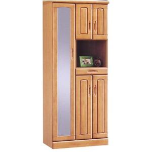 ハイシューズボックス(下駄箱) 幅74cm×奥行40cm×高さ180cm 木製 棚板付き 日本製 ナチュラル 【Horizon3】ホライゾン3 【完成品】