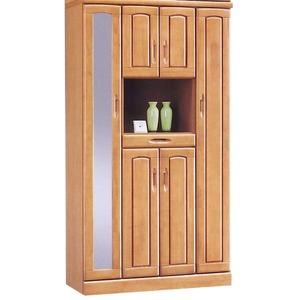 ハイシューズボックス(下駄箱) 幅100cm×奥行40cm×高さ180cm 木製 棚板付き 日本製 ナチュラル 【Horizon3】ホライゾン3 【完成品 開梱設置】 - 拡大画像