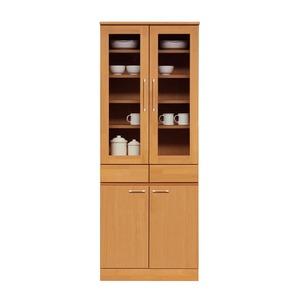 ダイニングボード(食器棚/キッチン収納) 【幅70cm】 木製 ガラス扉 日本製 ナチュラル 【MORRIS】モーリス 【完成品】
