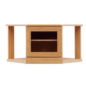 コーナータイプ ローボード/テレビ台 【幅75cm】 木製/天然木 『LOVE』 日本製 ナチュラル 【完成品】