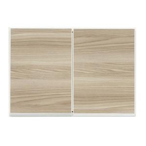 上置き(ダイニングボード/レンジボード用戸棚) 幅60cm 日本製 ブラウン 【完成品】