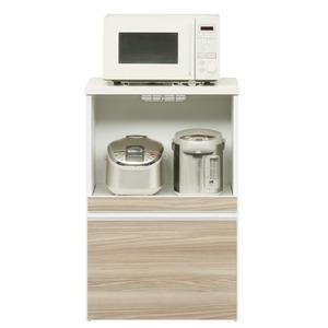 キッチンカウンター 幅60cm 二口コンセント/スライドテーブル/引き出し付き 日本製 ブラウン 【完成品】【開梱設置】