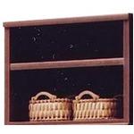 【訳あり・在庫処分】上置き(オープンラック用棚) 幅65cm 木製(天然木) 棚板付き 日本製 ブラウン 【Glacso2】グラッソ2 【完成品】