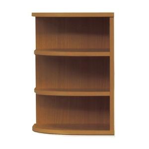 オープンエンド/オープンシェルフ 【幅43cm】 木製(天然木) 日本製 ブラウン 【完成品】