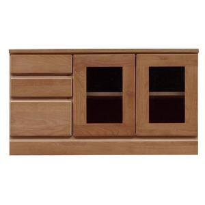 3段ローボード/テレビ台 【幅90cm】 木製 扉収納付き 日本製 ブラウン 【完成品】