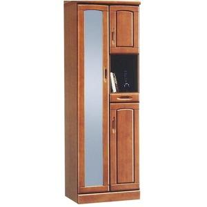 ハイシューズボックス(下駄箱) 幅60cm×奥行40cm×高さ180cm 木製 棚板付き 日本製 ブラウン 【Horizon3】ホライゾン3 【完成品】 - 拡大画像
