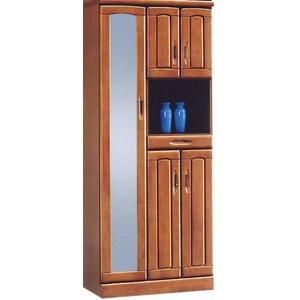 ハイシューズボックス(下駄箱) 幅74cm×奥行40cm×高さ180cm 木製 棚板付き 日本製 ブラウン 【Horizon3】ホライゾン3 【完成品】