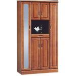 ハイシューズボックス(下駄箱) 幅100cm×奥行40cm×高さ180cm 木製 棚板付き 日本製 ブラウン 【Horizon3】ホライゾン3 【完成品】【玄関渡し】