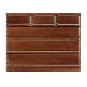 ローチェスト/収納棚 【4段/幅120cm】 ブラウン 『クエスト』 木製 長引出フルオープンレール付き【開梱設置】