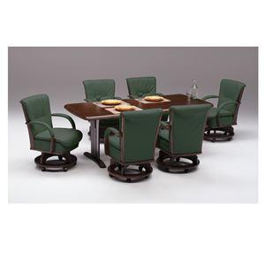 【チェア別売り】ダイニングテーブル/リビングテーブル 【長方形/幅180cm】 ブラウン 『サム』 木製 6人掛け 木目調