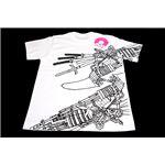 戦国武将Tシャツ 【加藤清正】 Lサイズ 半袖 綿100% ホワイト(白) 〔Uネック おもしろ〕