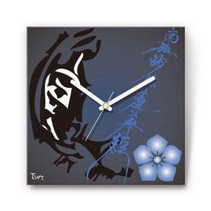 虎退治・加藤清正 戦国ファブリック掛時計 - 拡大画像