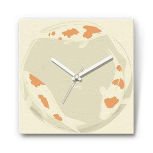 鯉 戦国ファブリック掛時計 - 拡大画像