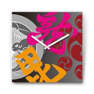 越後の龍・上杉謙信 戦国ファブリック掛時計 - 拡大画像