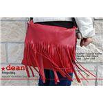★dean(ディーン) fringe bag ショルダーバッグ 斜めがけバッグ 赤