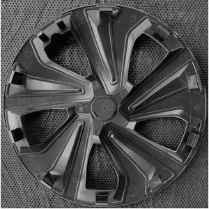 スタイリッシュに変身!カーボンタイプのホイールカバー 13インチ シルバー&グレー 4枚セット