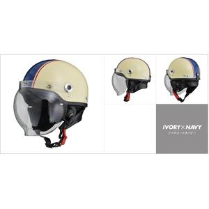 CR-760 ハーフヘルメット アイボリー×ネイビー - 拡大画像