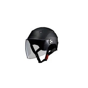 SERIO(セリオ) RE-40 シールド付きハーフヘルメット マットブラック - 拡大画像