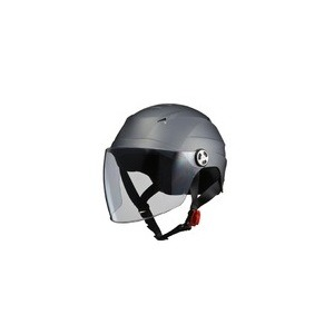 SERIO(セリオ) RE-40 シールド付きハーフヘルメット スモ—キーシルバー