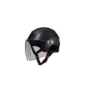 SERIO(セリオ) RE-41 LLサイズ シールド付きハーフヘルメット ブラック - 拡大画像