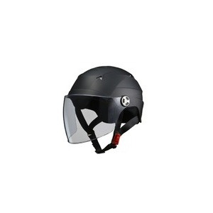 SERIO(セリオ) RE-41 LLサイズ シールド付きハーフヘルメット マットブラック - 拡大画像