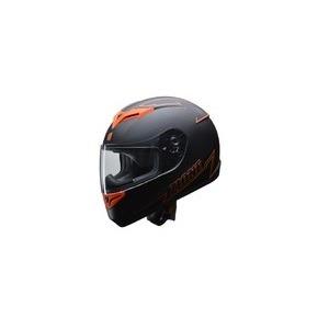人気のマットブラック ZIONE(ジオーネ) フルフェイスヘルメット オレンジ Mサイズ - 拡大画像