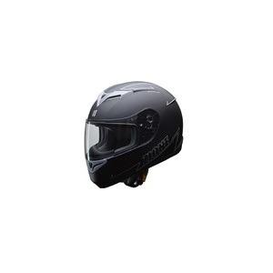 人気のマットブラック ZIONE(ジオーネ) フルフェイスヘルメット グレイ LLサイズ - 拡大画像