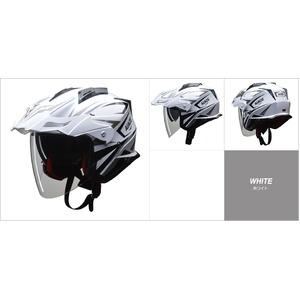 バイザーの脱着が可能!! AIACE(アイアス) アドベンチャーヘルメット Lサイズ ホワイト - 拡大画像