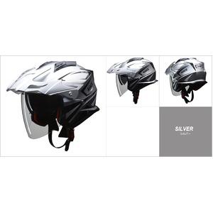 バイザーの脱着が可能!! AIACE(アイアス) アドベンチャーヘルメット Mサイズ シルバー