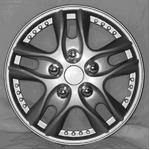 5スポーク ホイールカバー WJ-5001 シルバー 15インチ【4枚セット】