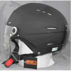 サングラスタイプ インナーシールド装備 開閉式シールド付きハーフヘルメット マットブラック - 拡大画像