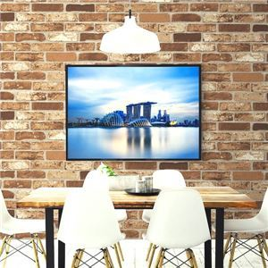 【WAGIC】(30m巻)リメイクシート シール壁紙 プレミアムウォールデコシートR-WA112 煉瓦 ソフトブラウンレンガ調 - 拡大画像