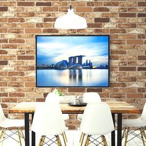 【WAGIC】(6m巻)リメイクシート シール壁紙 プレミアムウォールデコシートR-WA112 煉瓦 ソフトブラウンレンガ調 - 拡大画像