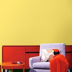 壁紙シール/プレミアムウォールデコシート 【6m巻】 C-WA204 カラー イエロー【アウトレット】 - 拡大画像