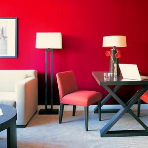 【WAGIC】(6m巻)リメイクシート シール式壁紙 プレミアムウォールデコシートC-WA210 北欧カラー無地(石目調) 赤色レッド - 拡大画像