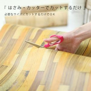 壁紙シール/プレミアムウォールデコシート 【6m巻】 W-WA304 木目 ヴィンテージ ブラウン系