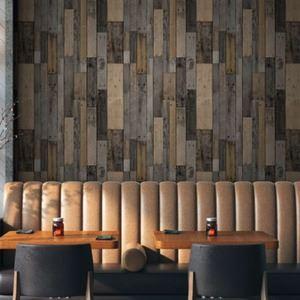壁紙シール/プレミアムウォールデコシート 【6m巻】 W-WA322 木目 オールド ブラウン系