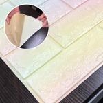クッションブリック【ブロッサム】(6枚組)壁紙シール 壁用クッションレンガ 3D立体壁紙 れんがシート 煉瓦シート