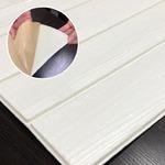 木目調 クッションシート壁【ホワイトウッド】(6枚組)壁紙シール 壁用クッションパネルシート 3D立体壁紙 ウッドシート 壁紙シート