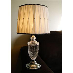 テーブルランプ(照明器具/卓上ライト) アンティーク調 ガラス/布 〔リビング照明/寝室照明/ダイニング照明〕【電球別売】