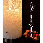 テーブルランプ(照明器具/卓上ライト) レトロ/アールデコ調 花柄 〔リビング照明/寝室照明/ダイニング照明〕【電球別売】