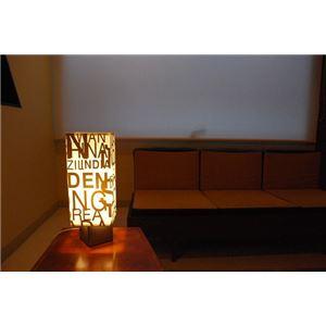 テーブルランプ(照明器具/卓上ライト) アルファベットデザイン 〔リビング照明/寝室照明/ダイニング照明〕【電球別売】 - 拡大画像